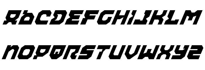 Airacobra Italic फ़ॉन्ट लोअरकेस