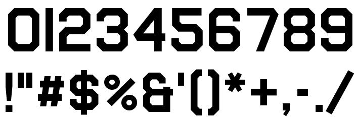 Airborne Pilot Шрифта ДРУГИЕ символов