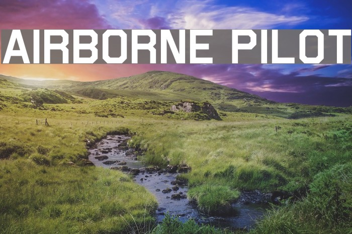 Airborne Pilot Шрифта examples