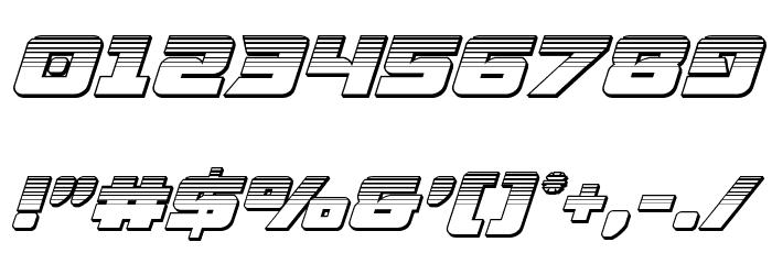 Aircruiser Platinum Italic フォント その他の文字