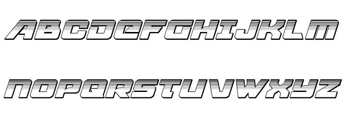 Aircruiser Platinum Italic フォント 大文字