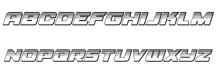 Aircruiser Platinum Italic フォント 小文字