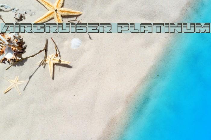 Aircruiser Platinum Font examples