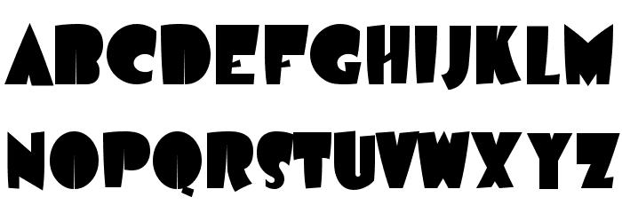 Airmole-Regular Font Litere mari