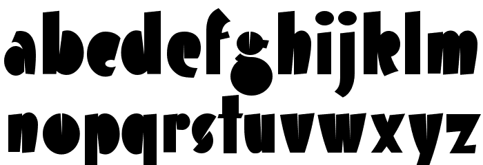 Airmole-Regular Font Litere mici