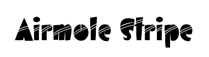 Airmole Stripe  Скачать бесплатные шрифты