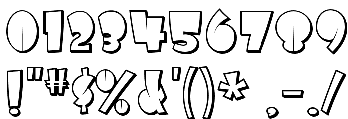 AirmoleShaded-Regular Font OTHER CHARS