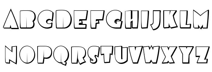 AirmoleShaded-Regular Font UPPERCASE