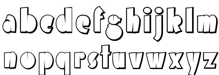 AirmoleShaded-Regular Font LOWERCASE