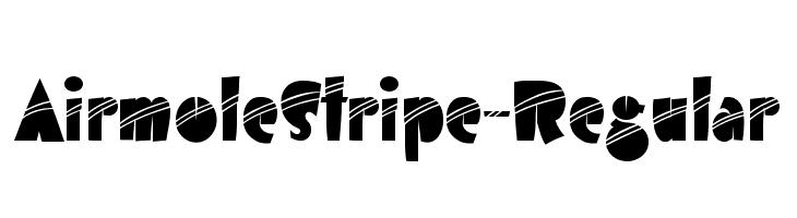 AirmoleStripe-Regular  Скачать бесплатные шрифты