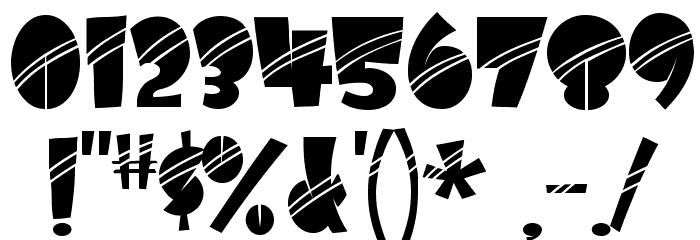 AirmoleStripe-Regular Шрифта ДРУГИЕ символов