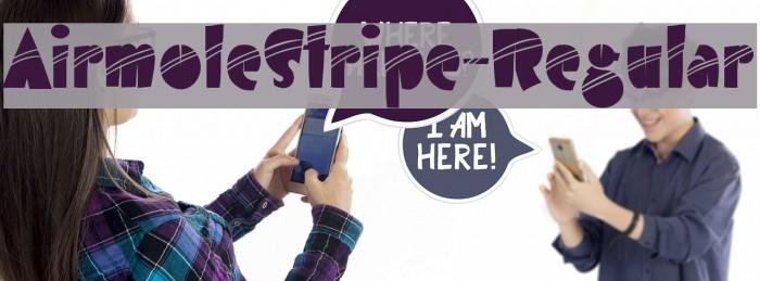 AirmoleStripe-Regular Шрифта examples