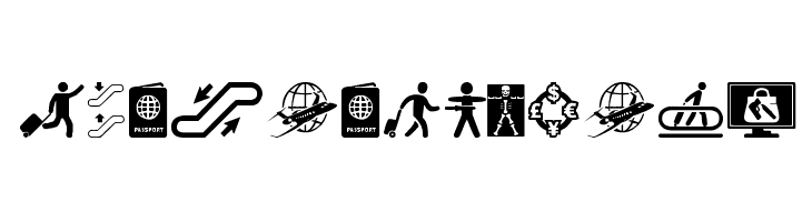 Airport Icons  Free Fonts Download