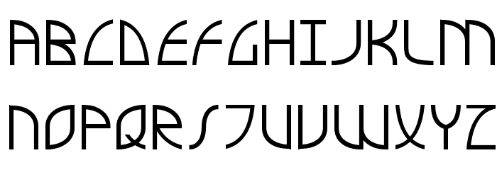 Airstream Futuropolis Regul Font UPPERCASE