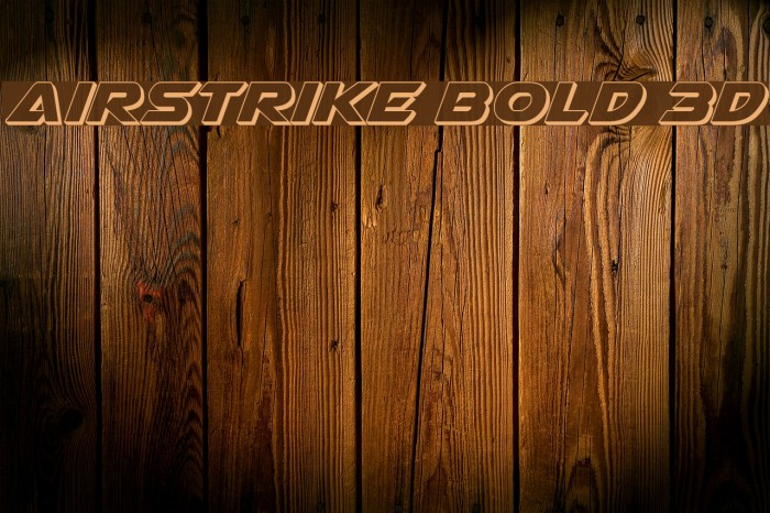 Airstrike Bold 3D Шрифта examples