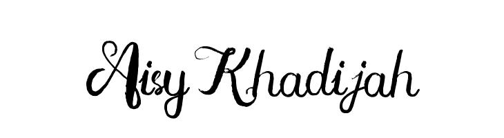 Aisy Khadijah  フリーフォントのダウンロード