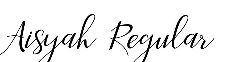 Aisyah Regular  Скачать бесплатные шрифты