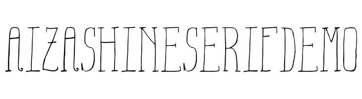 Aiza Shine Serif Demo  Free Fonts Download