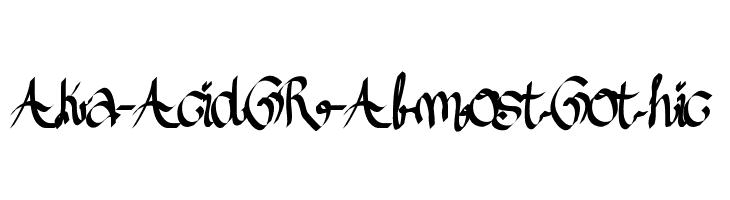 Aka-AcidGR-AlmostGothic  Скачать бесплатные шрифты