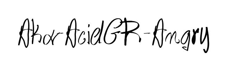 Aka-AcidGR-Angry  Free Fonts Download