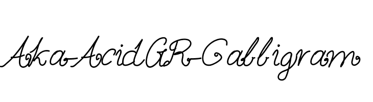 Aka-AcidGR-Calligram  Free Fonts Download