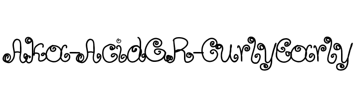Aka-AcidGR-CurlyEarly  Free Fonts Download