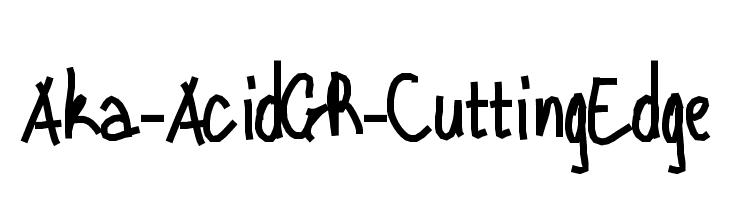 Aka-AcidGR-CuttingEdge  Descarca Fonturi Gratis