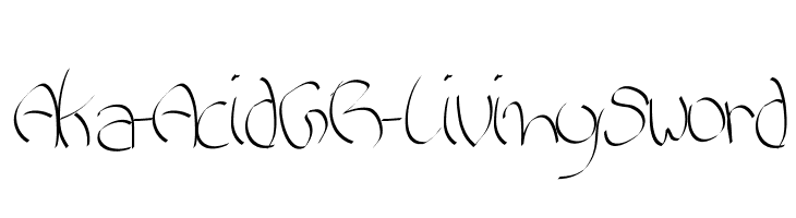 Aka-AcidGR-LivingSword  Free Fonts Download