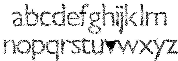 Aka-AcidGR-ScrachThis Шрифта строчной