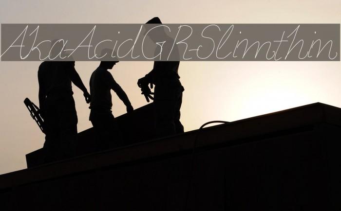 Aka-AcidGR-Slimthin फ़ॉन्ट examples