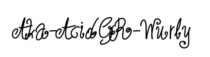 Aka-AcidGR-Wurly  Frei Schriftart Herunterladen