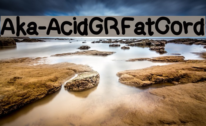 Aka-AcidGRFatCord Fonte examples