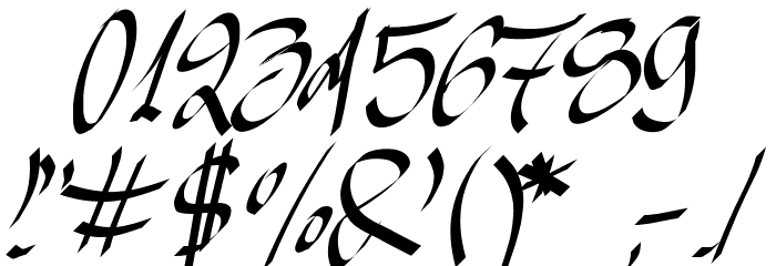 AkaAcidQuickPad Font OTHER CHARS