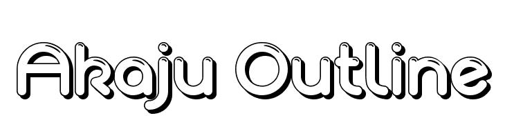 Akaju Outline  नि: शुल्क फ़ॉन्ट्स डाउनलोड