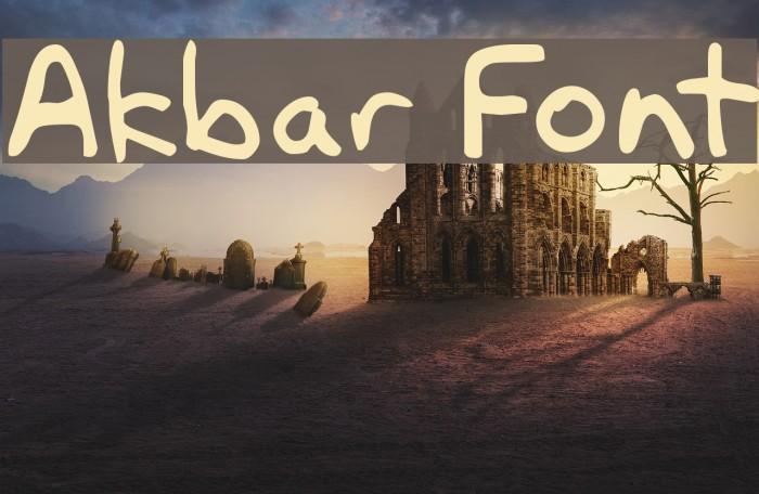 Akbar Fonte examples