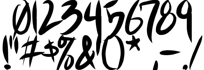 Akiba Punx 2 Font OTHER CHARS