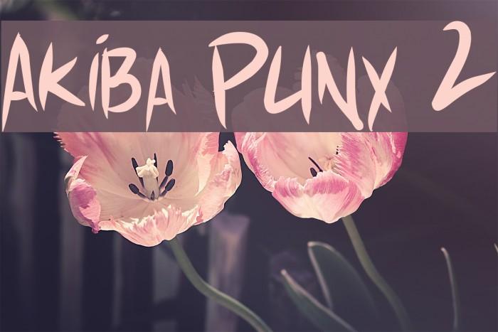 Akiba Punx 2 Font examples