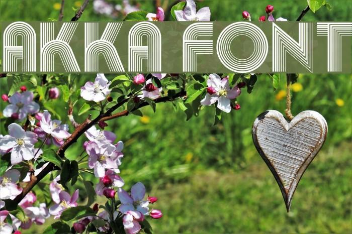 Akka Font examples
