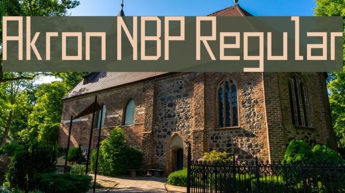 Akron NBP Regular Font examples