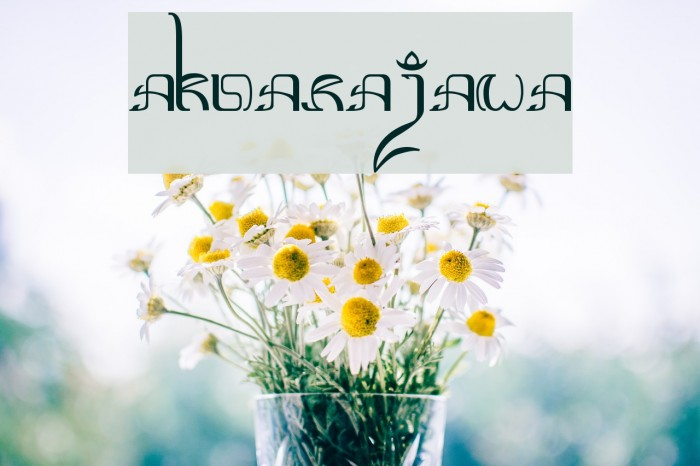 Aksara-Jawa Fonte examples