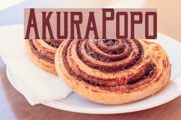 AkuraPopo फ़ॉन्ट examples