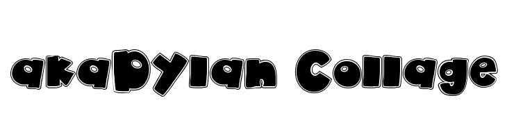 akaDylan Collage  Free Fonts Download