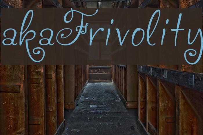 akaFrivolity Font examples