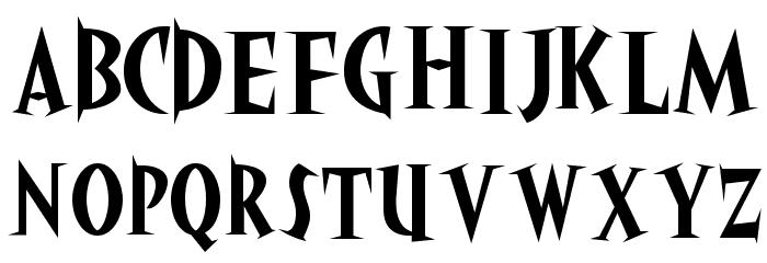 akaHoggle Font UPPERCASE