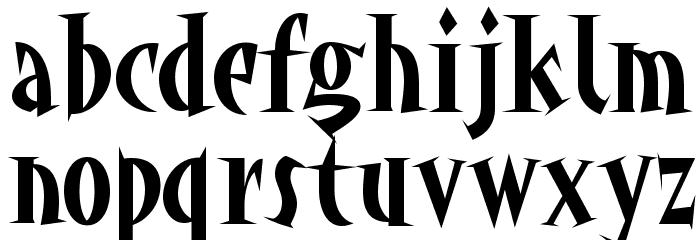 akaHoggle Font LOWERCASE