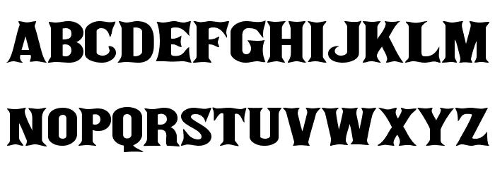 akaPosse Font LOWERCASE