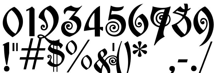 akaPotsley Шрифта ДРУГИЕ символов