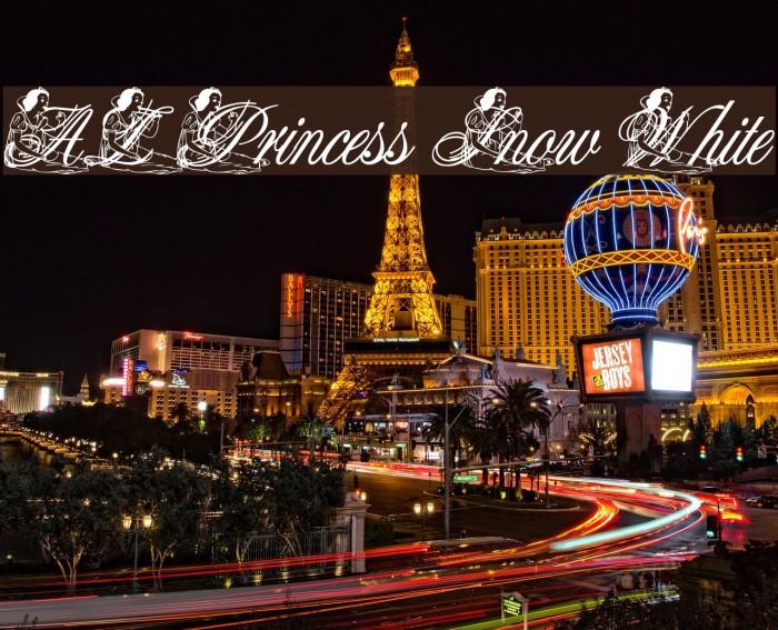 AL Princess Snow White फ़ॉन्ट examples