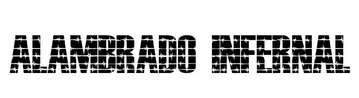 ALAMBRADO INFERNAL  Free Fonts Download