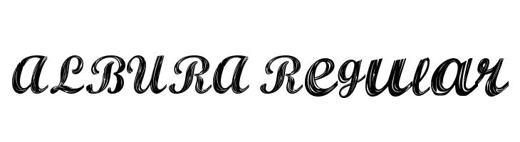 ALBURA Regular  Скачать бесплатные шрифты